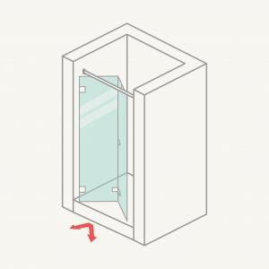 Mamparadeduchafrontal:puertasplegables