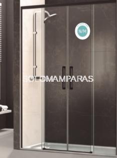 Mampara de ducha Venecia -Deyban- 2 fijas + 2 correderas (antical)