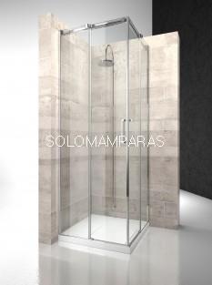 Angular ducha mampara Gliss DA+DA - Vismara - entrada vértice 8mm