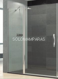 Mampara de ducha articulada Prisma -Deyban- (1 fijo + 1 puerta abatible) antical